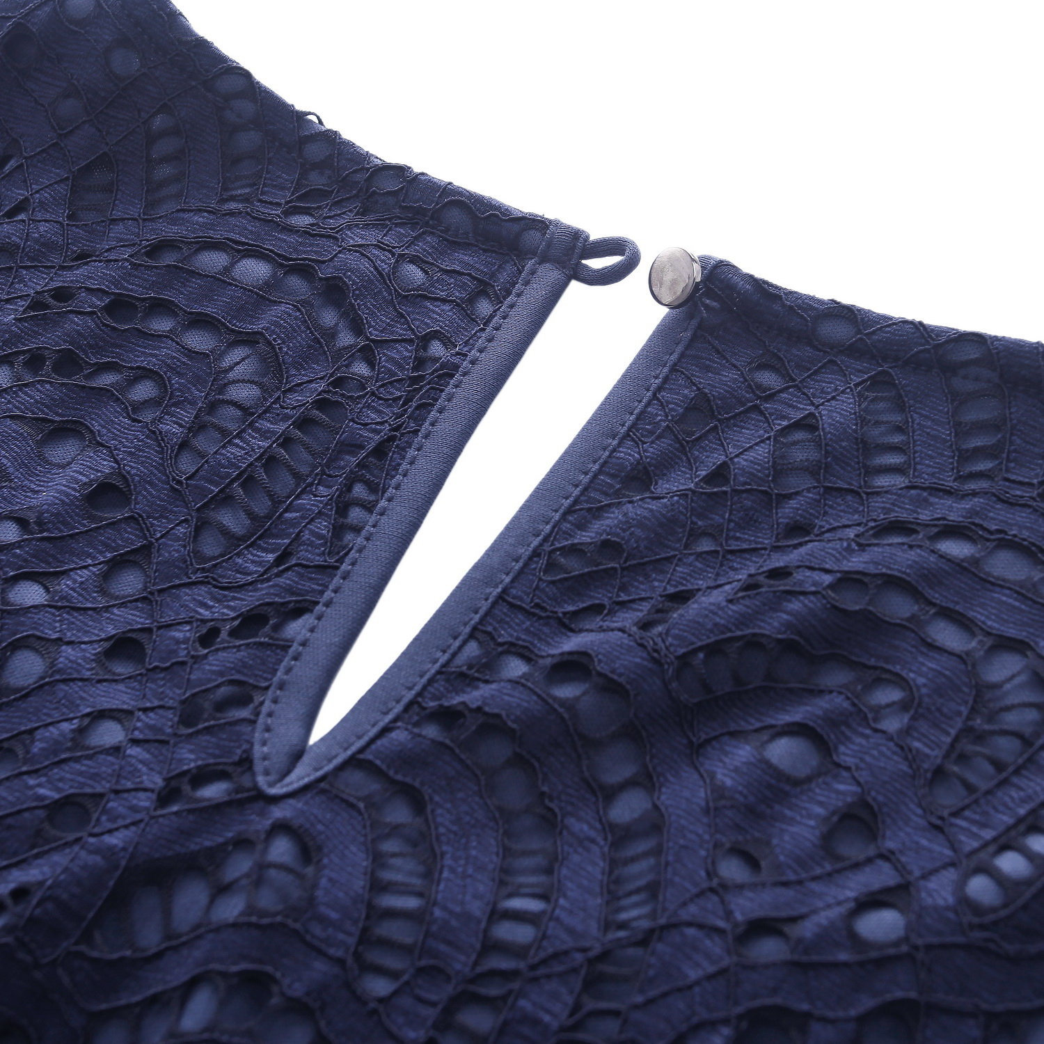 Chicwe Women s Plus Size Smart Scalloped Lace Top Tunic Work and Casual  Blouse Large Size Big Size 1X 4X Navy-in Blouses   Shirts from Women s  Clothing on ... ea97a3a997e9