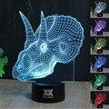 HUI YUAN dinossauro presente Criativo 2 3D luz da noite USB levou mesa da tabela wai adorno doméstico líquido de leitura do quarto noite luz
