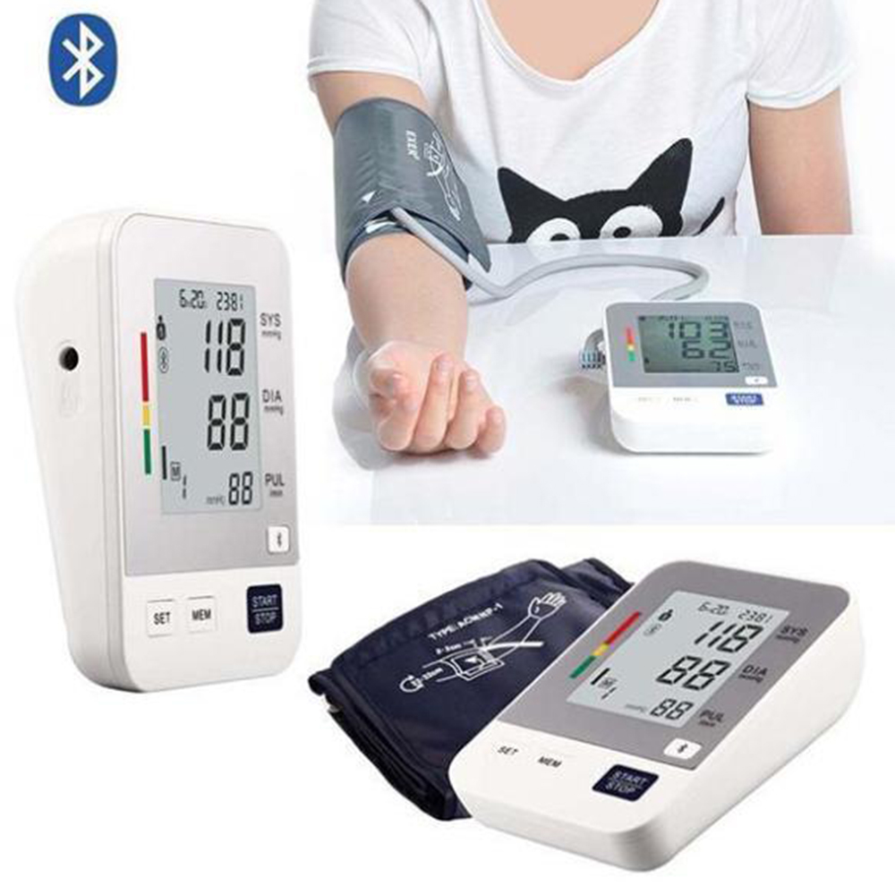 2015 High Quality Bluetooth Fully Automatic Upper Arm Digital Blood Pressure Monitor IOS & Android For Health Care 48mm x 1 metric right hand die m48 x 1 0mm pitch