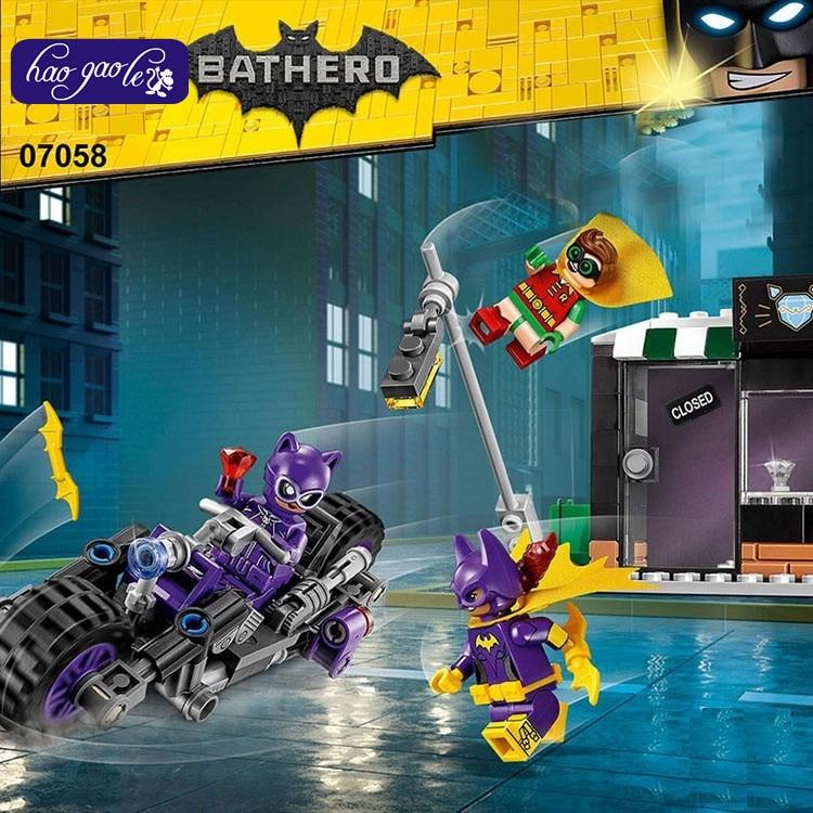 wholesale Lepin 07058 super heroes batman catwoman mobile bathero building blocks bricks Compatible with 70902 baby toys