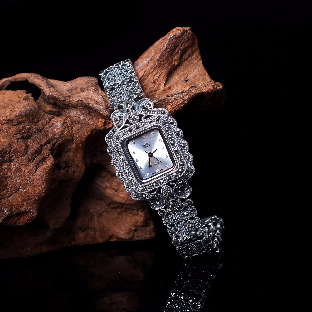 New Limited Edition Classic Elegant S925 Silver Pure Thai Silver Bracelet Watches Thailand Process Rhinestone Bangle DresswatchNew Limited Edition Classic Elegant S925 Silver Pure Thai Silver Bracelet Watches Thailand Process Rhinestone Bangle Dresswatch