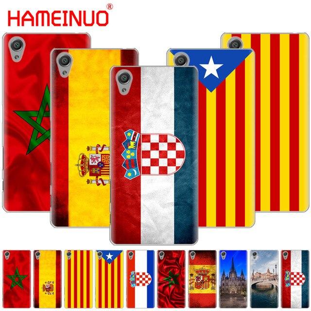 Các Tây Ban Nha Morocco Croatia sáng Trường Hợp cờ điện thoại đối với sony xperia C6 XA1 XA2 XA ULTRA X XP L1 L2 X XZ1 nhỏ gọn XR/XZ CAO CẤP