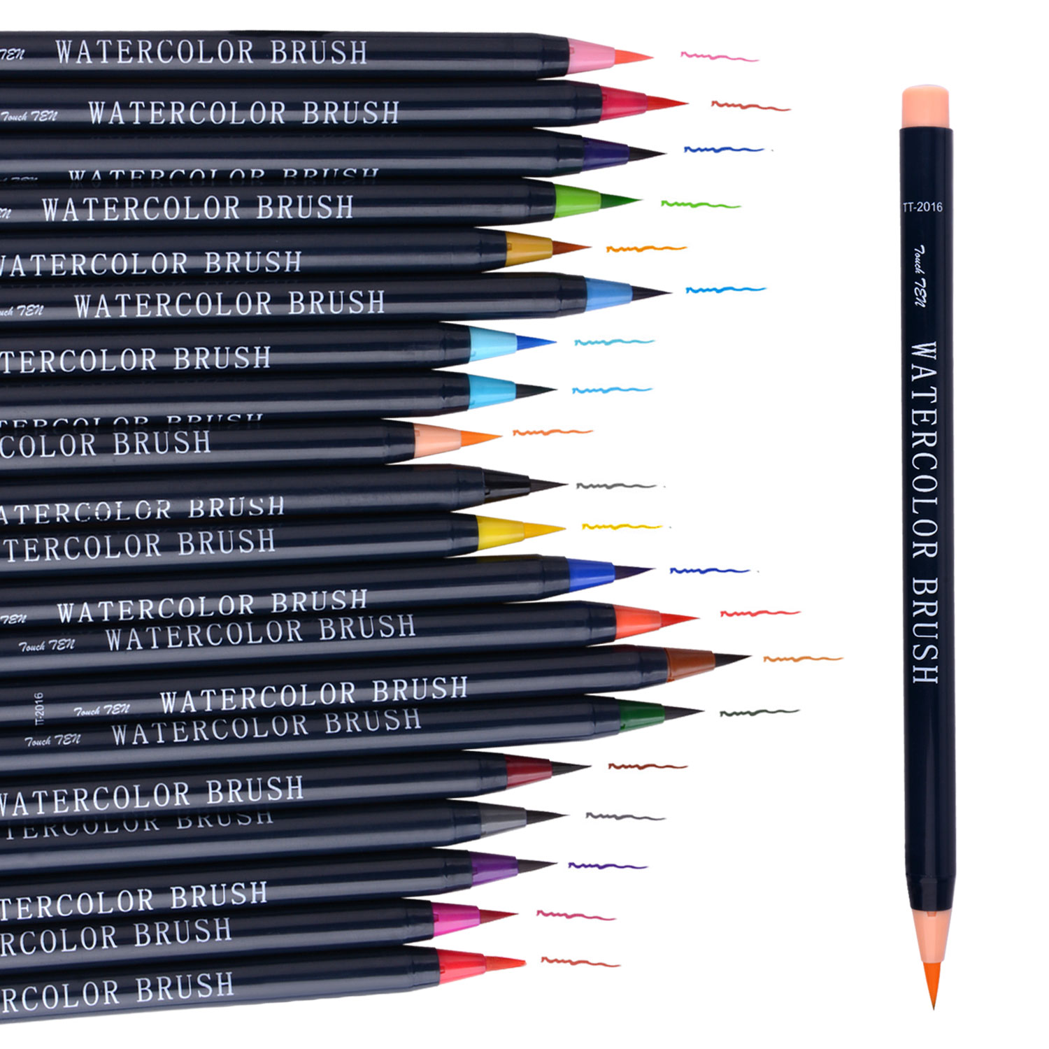 20 Colors Premium Painting Soft Brush Pen Set Watercolor Markers Pen Effect Best For Coloring Books Manga Comic Calligraphy 20 color painting soft brush pen set watercolor markers pen effect best for coloring books student art painting supplies