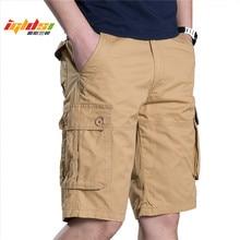 גברים קצרים מטען צבאי צבא חדש 2018 מותג כותנה גברים מכנסי הסוואה מכנסיים מטען סרבל מכנסיים קצרים מקרית Loose העבודה