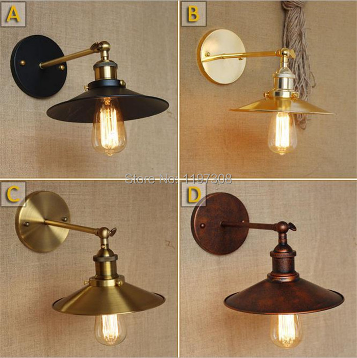 ФОТО Industrial vintage classic retro style creative improvised new machinery Interior bedroom bedside wall lamps antique