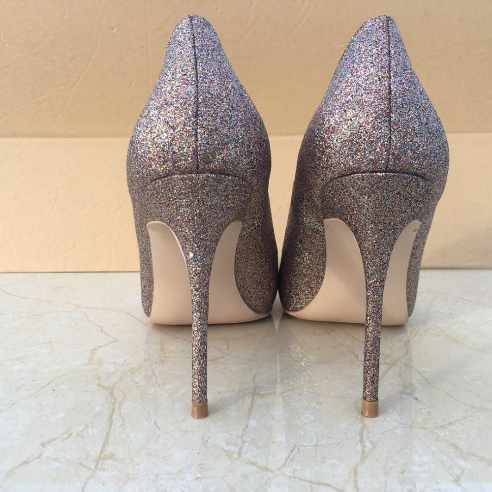 Keshangjia OL Büro Dame Schuhe Frauen High Heels Schuhe Gold Pailletten Tuch Pumpen Frau Kleid Schuhe Silber Hochzeit Schuhe Frühling-in Damenpumps aus Schuhe bei  Gruppe 3