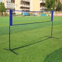 Portable Quickstart Tennis Badminton Net Outdoor simple tennis rack Outdoor Sports Volleyball Training Square Mesh Net Blue rack