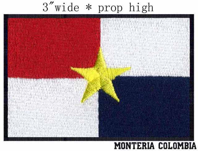 Monteria Colombia Flag Embroidery 3 Wide Shipping Strict