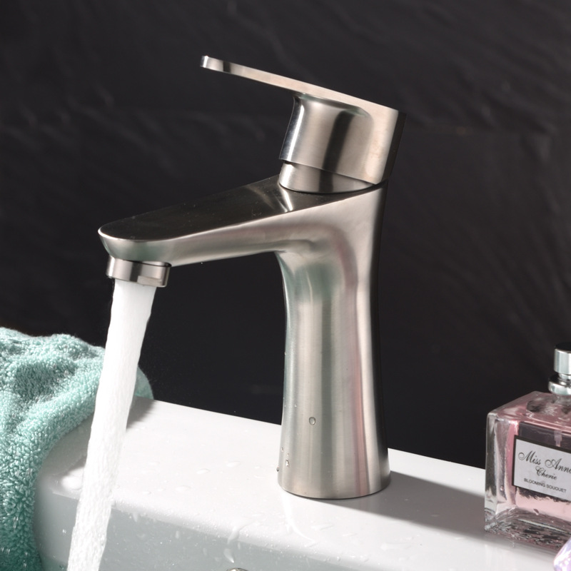 304 Stainless Steel Basin Faucet Bathroom Mixer Tap Basin Faucets ...