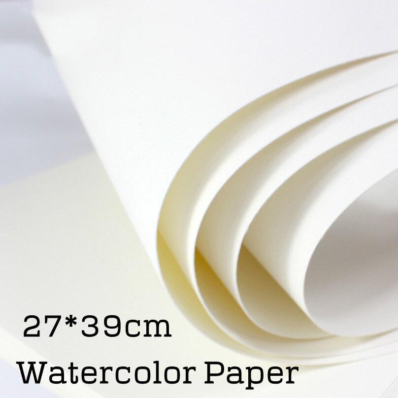 27*39 cm papier aquarelle bricolage blanc carte postale papier peint à la main cartes postales blanc carton art fourniture ensemble avec brosse