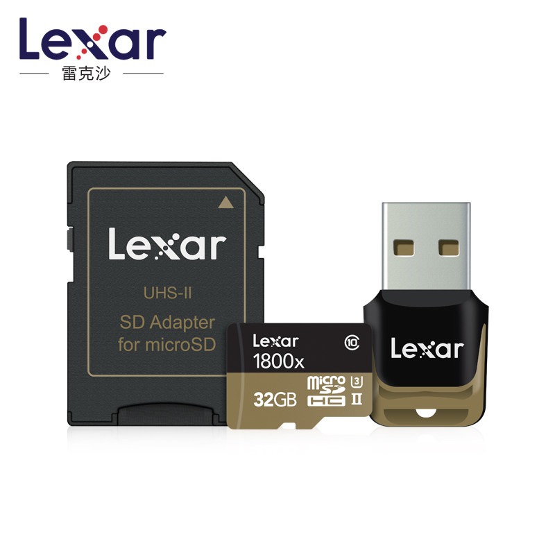 Leaxr 1800X Micro Sd Carte 32 gb 64 go 128g avec Adaptateur et Usb 3.0 Lecteur de Carte Carte Compact flash Samrtphone Drone Profession Caméra