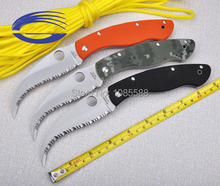 spyderco C12GS Civilian Folding Utility Knives 7cr18mov With G10 EDC Gear Tool Tactical Combat Camping Knife
