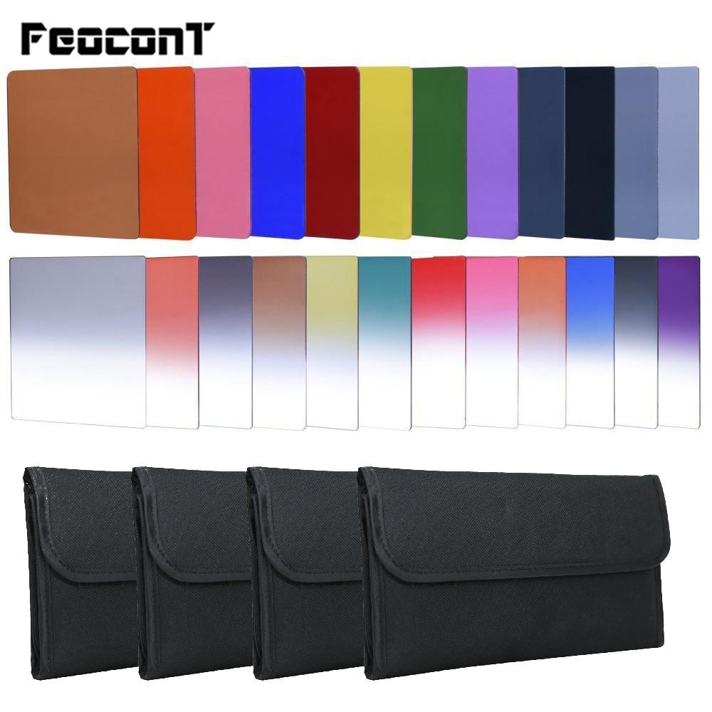 Gekleurde lichtfilters 24-1 filterset Vierkant afgestudeerd ND2 4 8 16 draagtas Cokin P-serie camera voor Canon Camera SLR