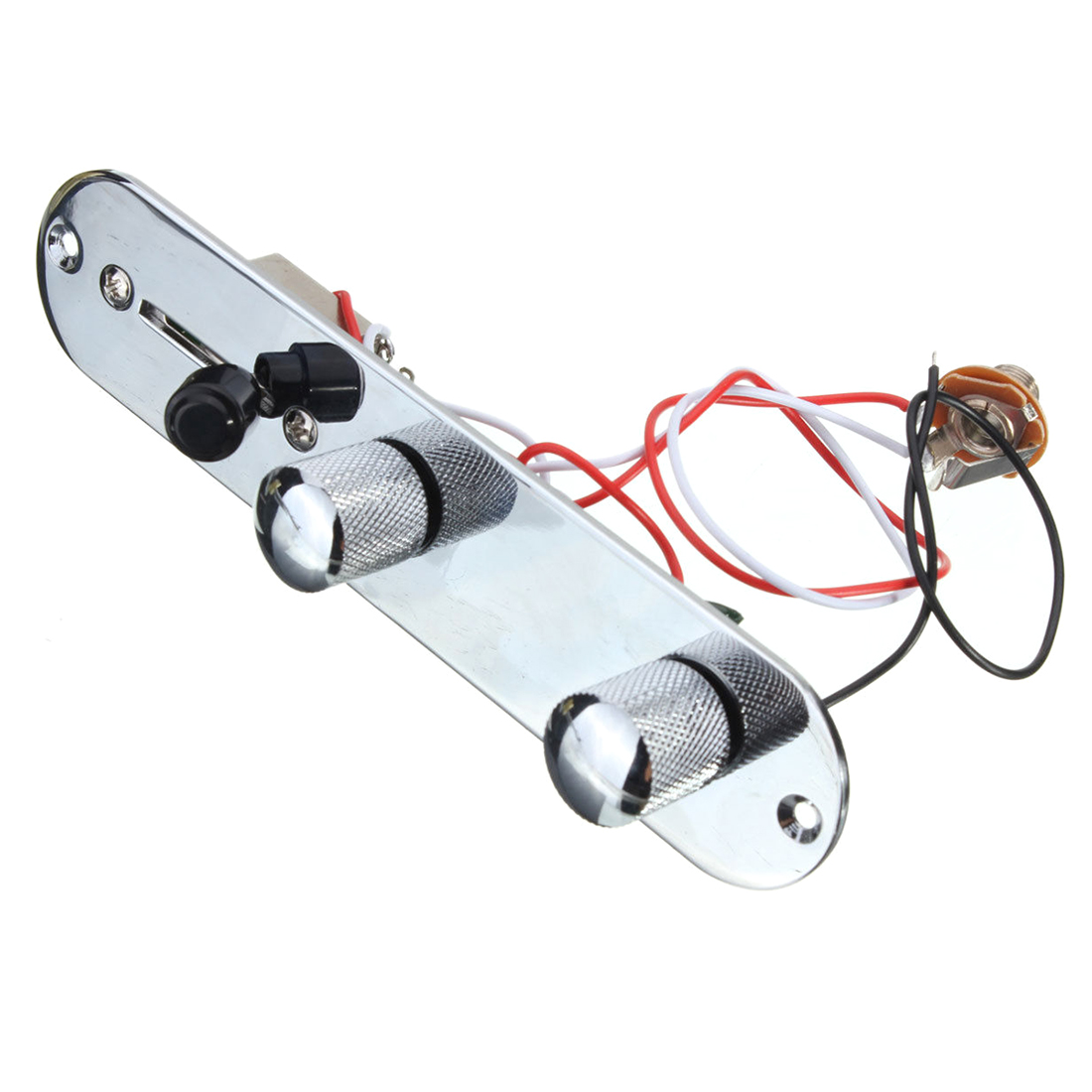 Chrome Loaded Control Plate For Tele Completely Wired Telecaster Guitar chrome plated wired control plate for jazz bass total approx 152 54 mm l 344