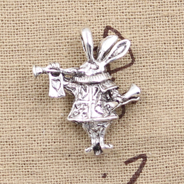 4pcs charms 3d horn bunny rabbit 27237mm antique silver plated 4pcs charms 3d horn bunny rabbit 27237mm antique silver plated pendants making mozeypictures Images