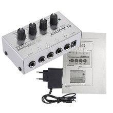 Ihens5 H400 Портативный ультра-компактный 4 Каналы мини аудио melhorar сом Стерео усилитель для наушников с Мощность адаптер