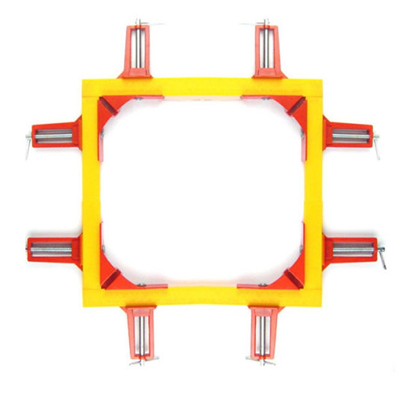 4PCS Multifunction 90 degree Right Angle Clip Picture Frame Corner Clamp 75MM Mitre Clamps Corner Holder Woodworking Hand Tool ninth world new single handlealuminum 90 degree right angle clamp angle clamp woodworking frame clip right angle folder tool