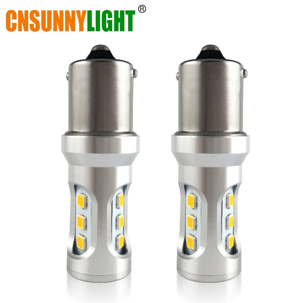 CNSUNNYLIGHT Voiture Feu arrière 1156 LED Canbus BA15S/P21W BAU15S/PY21W S25 3030 9SMD Auto De Frein N ° Lampe DRL Arrière Parking Ampoules