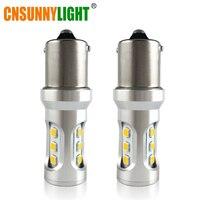 CNSUNNYLIGHT Car Tail Light 1156 LED Canbus BA15S P21W BAU15S PY21W S25 3030 9SMD Auto Brake