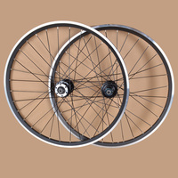 EMS 24 Inches MTB Mountain Bikes Bicycles V Brake Wheel Rim Wheelset QUANDO 32 Holes Hubs