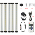 LED Strip lighting 15W 1500LM day/warm white 0.3M*3W  with remote control (Use the button battery) dimmable led cabinet light