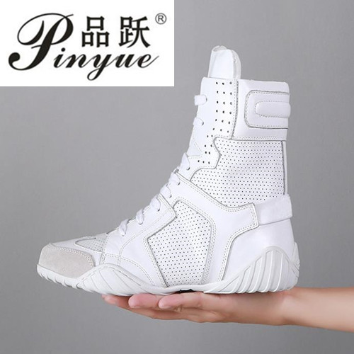 Summer dance shoes boot women boots slope with flat Genuine leather sandals ankle boots shoes woman Breathable new boots.