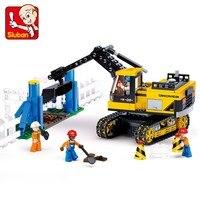 Sluban Model Toy Compatible With Lego B0551 614pcs Crawler Excavator Model Building Kits Toys Hobbies Building