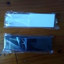 FZQWEG 50 مجموعات جديد استبدال أبيض أسود Memeory بطاقة فتحة الباب الغطاء غطاء 3 أجزاء الباب يغطي لنينتندو Nintend وى