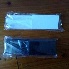 FZQWEG 50 zestawów nowy wymiana biały czarny karty pamięci pokrywa gniazda drzwi pokrywa 3 części pokrywy drzwi dla Nintendo Nintend konsoli Wii