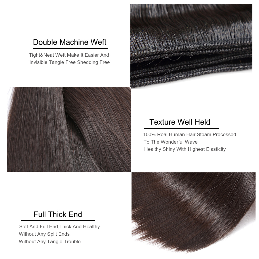Missblue 10A Mink Quality Brazilian Virgin Hair Bundles Straight Grade 10A Raw Human Hair Weave Bundles Extensions 1 3 4 P/Lots 9