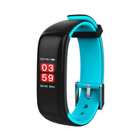P1 Screen Pedometer Watch Blood Pressure Heart Rate Monitor Fitness Sleep Management Bracelet Anti Phone Lost Smart Band