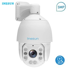 Inesun Outdoor PTZ IP Camera 5MP 2592x1944@30fps 36X Optical Zoom 7 Inch High Speed Dome IP66 Waterproof 500ft IR Night Vision