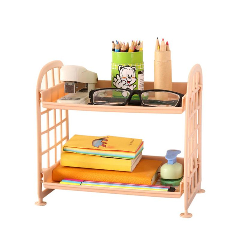 Storage Holders & Racks Home Storage & Organization Selfless Double Layer Cosmetic Storage Rack Kitchen Bathroom Organizer Plastic Plate X30411 Available In Various Designs And Specifications For Your Selection