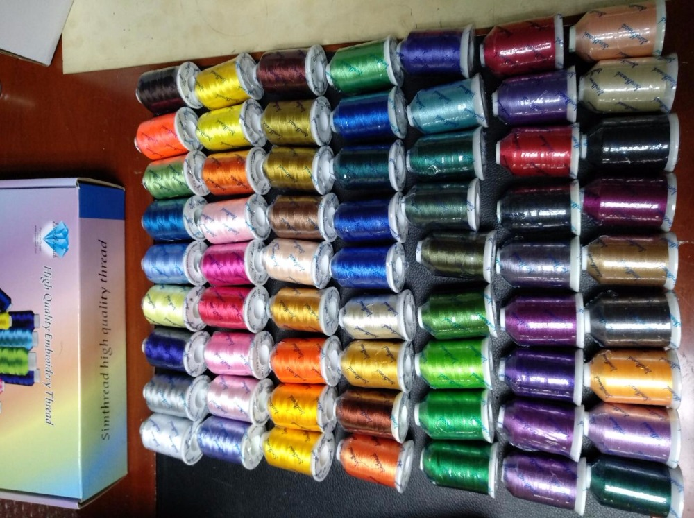 6 Or 10 Cones Same/different Color Brother Colors Or Simthread Polyester Embroidery Machine Thread 1000 Meters Cone