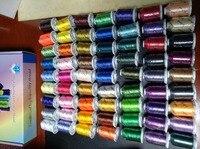 6 или 10 конусов одинакового/разного цвета Brother цвета или Simthread полиэстер вышивка машина нить 1000 м конус