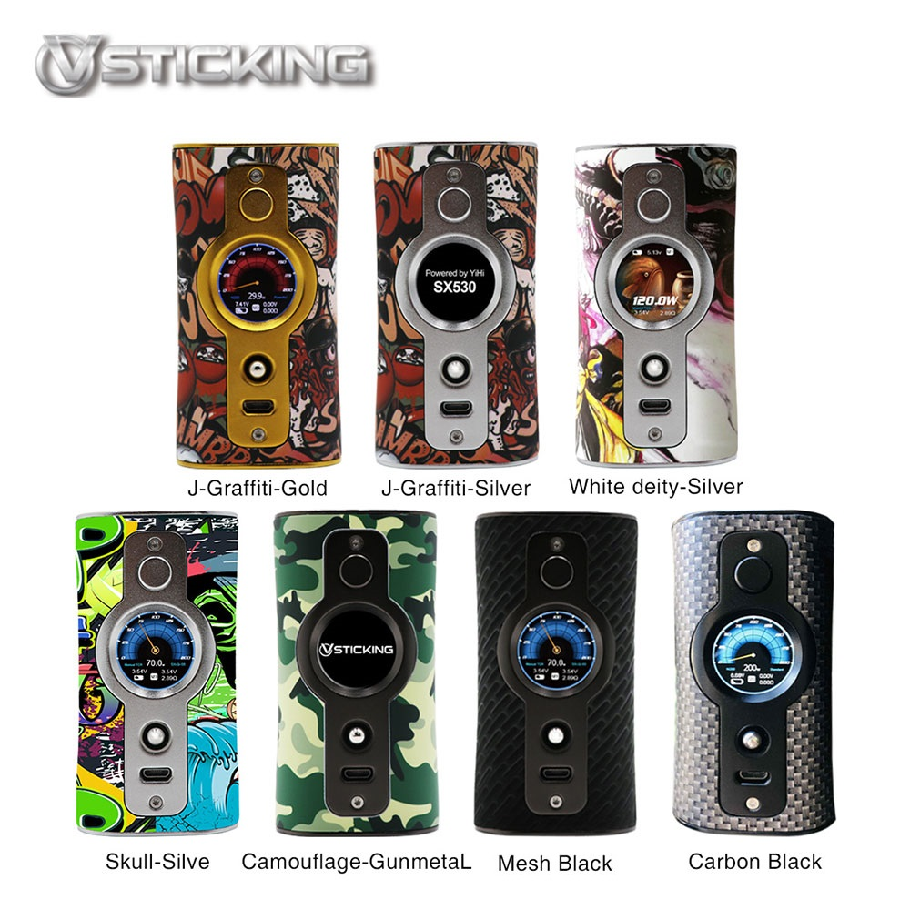 New Original Vsticking VK530 Vape 200W TC Box Mod Dual 18650 Battery Graffiti E Cigs Vape