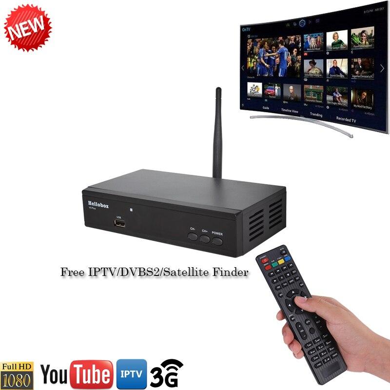 Hellobox V5 Plus IPTV Satellite Receiver IPTV DVBFINDER  PowrVu IKS Biss fully autoroll DVBS2  SCAM+2 Year TV Receiver