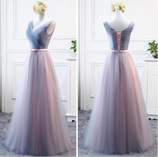 Beauty Emily New Design Long Bridesmaid Dresses 2019 A-Line Sleeveless Off the Shoulder Homecoming Wedding Party Dresses