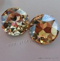 1201 אבני חן טופר קריסטל זהב צל עגול 27 מ