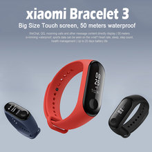 Mi band 3 Strap Metal for Xiaomi Mi Band 3 Message Smart Band Watch Waterproof OLED Touch Screen Heart Rate Monitor Bracelet