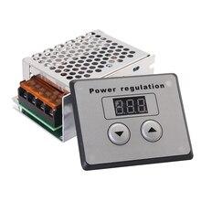 4000W 220V AC Voltage RegulatorSCR Voltage Regulator Dimmer Electric Motor Speed Controller For Electric Furnace Water Heater цены онлайн
