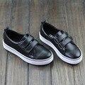 Women Shoes Flat Black Hook&Loop Slip on Loafers Thick Rubber sole Woman Leather Loafers Ladies Sneakers Female Footwear 6737-1