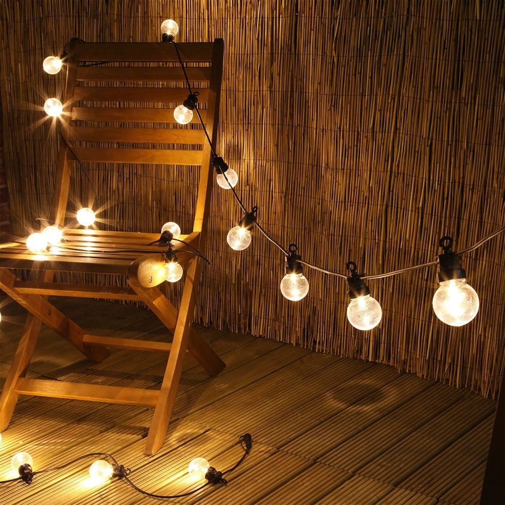 25 LED Bulbs Outdoor String Lights Wateproof Connectable Festoon Christmas Fairy Lights Street Outdoor Wedding Party Decoration