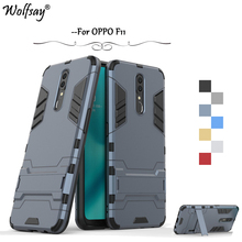 OPPO F11 Case Luxury Robot Armor Rubber Silicone Slim Hard PC Phone Case For OPPO F11 Back Cover For OPPO F11 Kickstand Fundas швабра topoto f11