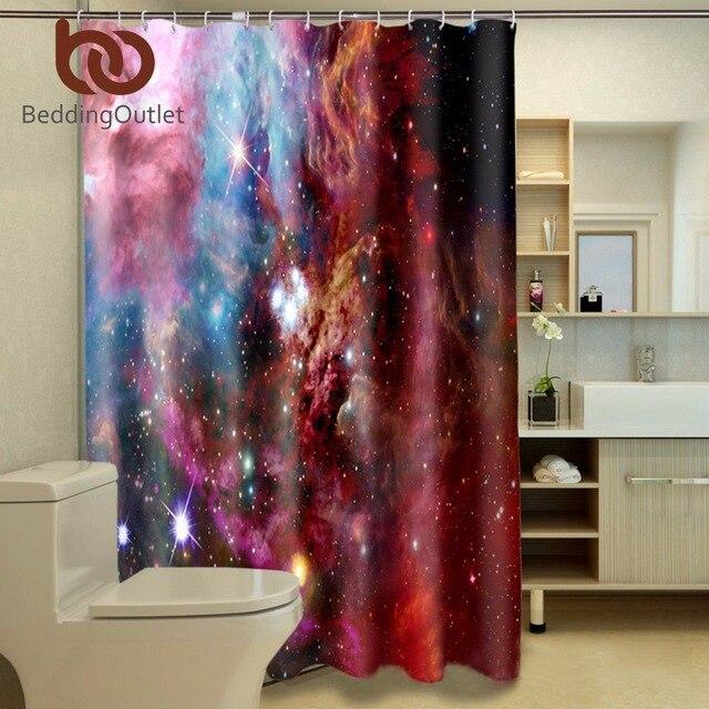 beddingoutlet galaxy douche rideau color nbuleuse conception salle de bains 3d rideaux frais 180 cm x - Maison Colore Rideaux