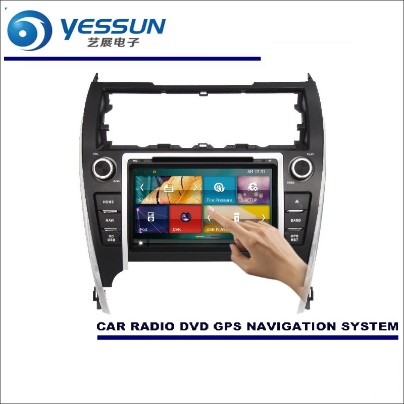 YESSUN For Toyota Camry 2012~2016 America Car Radio CD DVD Player Amplifier HD TV Screen GPS Navi Navigation Audio Video System yessun car navigation gps android for toyota camry 2012 2017 audio video hd touch screen stereo multimedia player no cd dvd