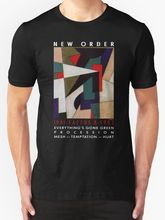 купить New Order Factus 8 Design Joy Division Men's T Shirt Black Men T Shirt Print Cotton Short Sleeve T-Shirt Fashion по цене 849.31 рублей