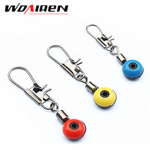 10 Pcs/Lot Space Beans Fishing Connector Interlock Float Rolling Swivel Fishing Supplies with Box Carry Fishing Accessories