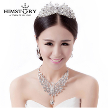 New 2015 Free Shipping Luxurious Phoenix Crystal Party Wedding Bridal Jewelry Sets Including Necklace Earrings and Tiara 2018 new arrival exaggerated big necklace and earrings jewelry sets austrian crystal for wedding or party ethnic free shipping