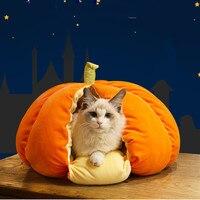 Cute Cat Sleeping Bag Soft Warm Winter Peach Orange Pumpkin Dog House Pet Nest Kennel Pet Bed Sofas Pet Sleeping Bags Pet House